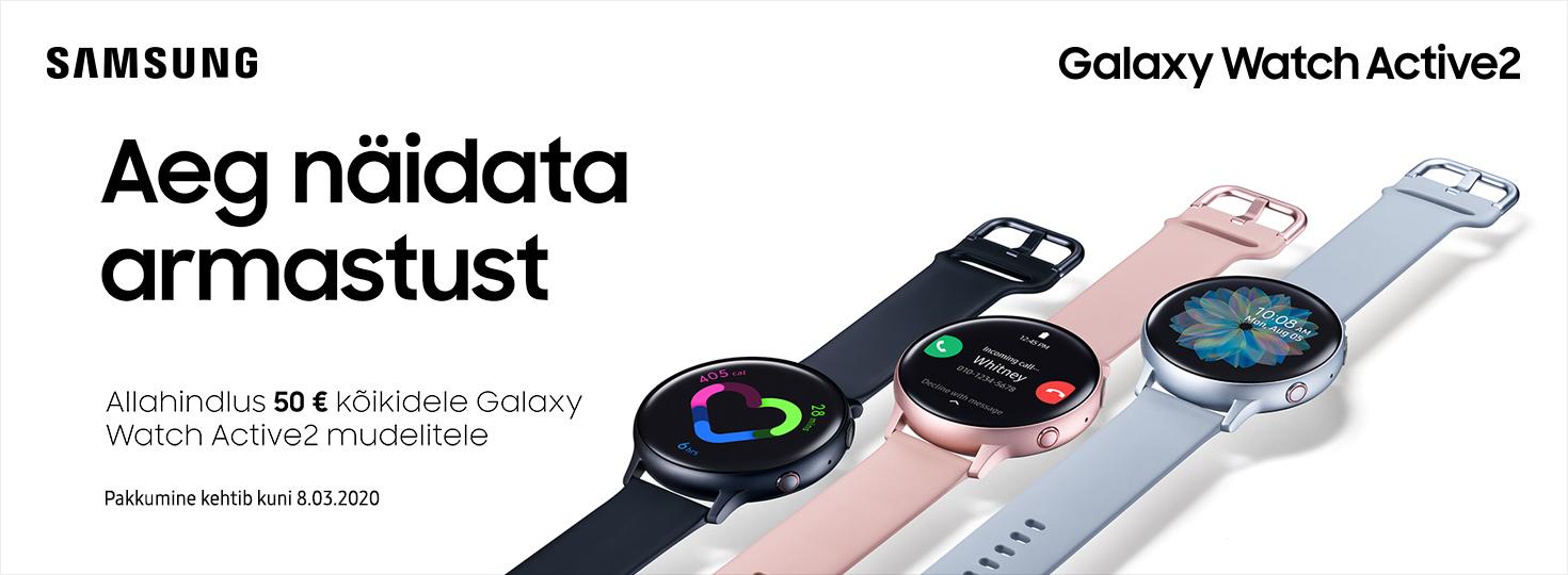 PL Samsung Galaxy Watch Active2 50€ soodsamalt