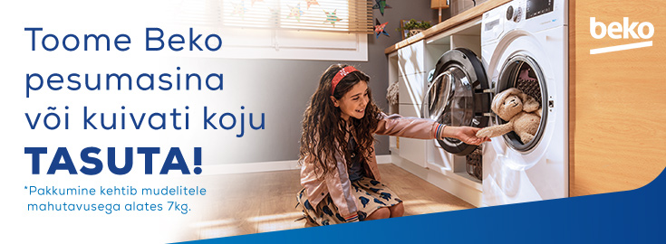 PL Toome Beko pesumasina või kuivati tasuta koju!