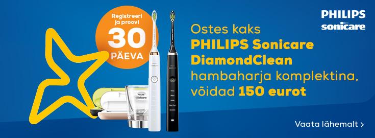 MP Ostes kaks Sonicare DiamondClean hambaharja komplektina, võidad 150 eurot