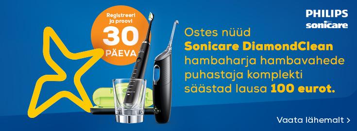 MP Ostes nüüd Sonicare DiamondClean hambaharja hambavahede puhastaja komplekti säästad lausa 100 eurot