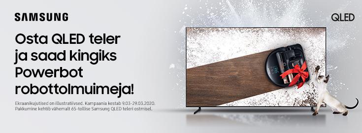 PL Valitud Samsungi 65 või suuremate QLED teleritega kaasa robottolmuimeja!