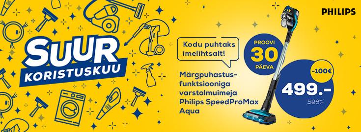PL Koristuskuu, varstolmuimeja Philips SpeedProMax Aqua