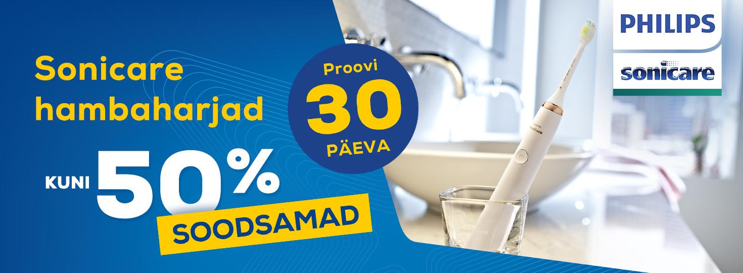 MP Sonicare hambaharjad kuni 50% soodsamad