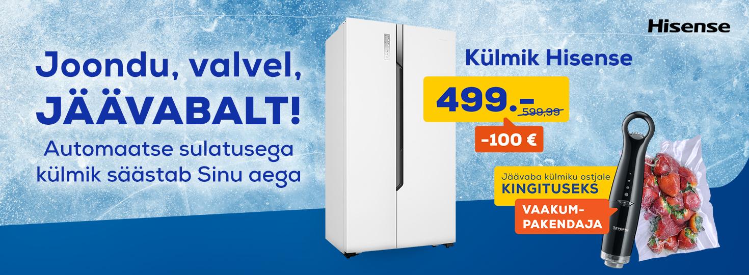 PL Jäävaba külmiku ostjale kingituseks vaakumpakendaja, Hisense SBS