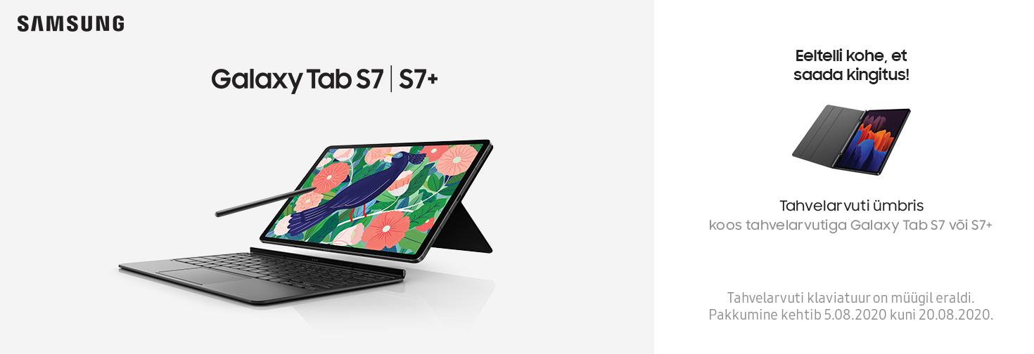 PL Eeltelli Galaxy Tab 7 või Tab7 Plus ja saa kingiks turvaline ümbris!