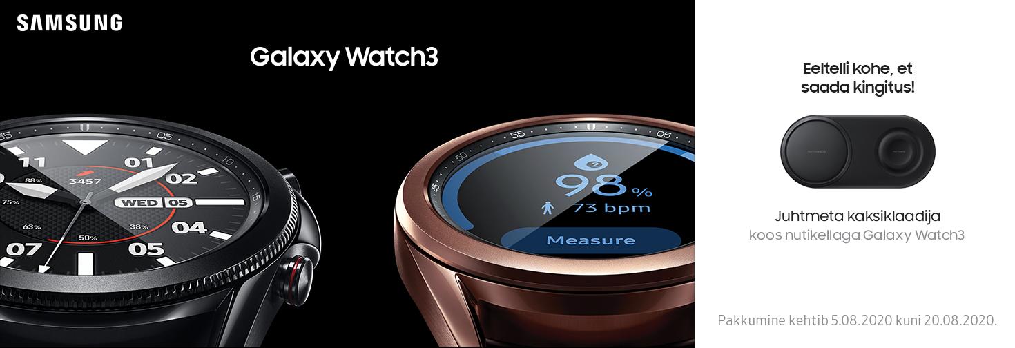 MP Eeltelli Samsung Galaxy Watch 3 ja saa kingiks juhtmeta kaksiklaadija!