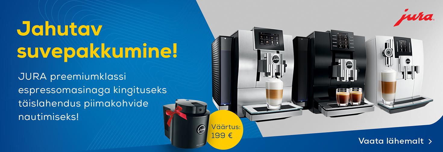 PL Valitud Jura espressomasinatega kingituseks JURA piimakülmik