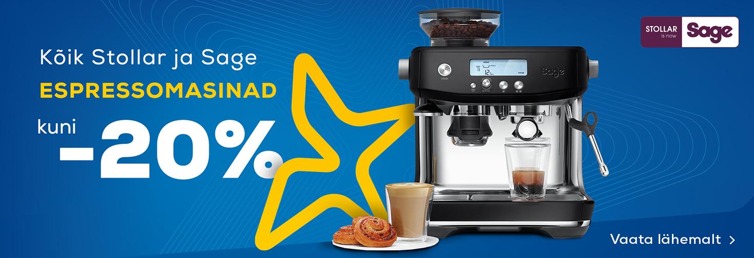 PL Kõik Stollar ja Sage espressomasinad kuni -20%