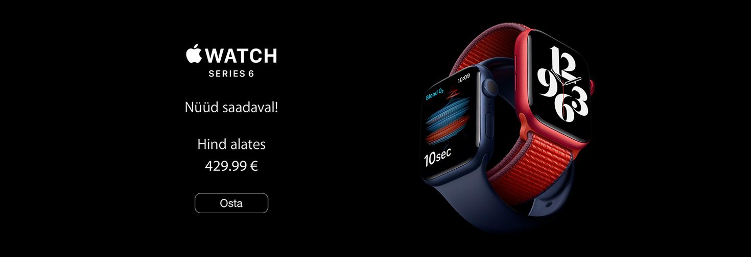 PL Apple Watch Series 6  nüüd saadaval