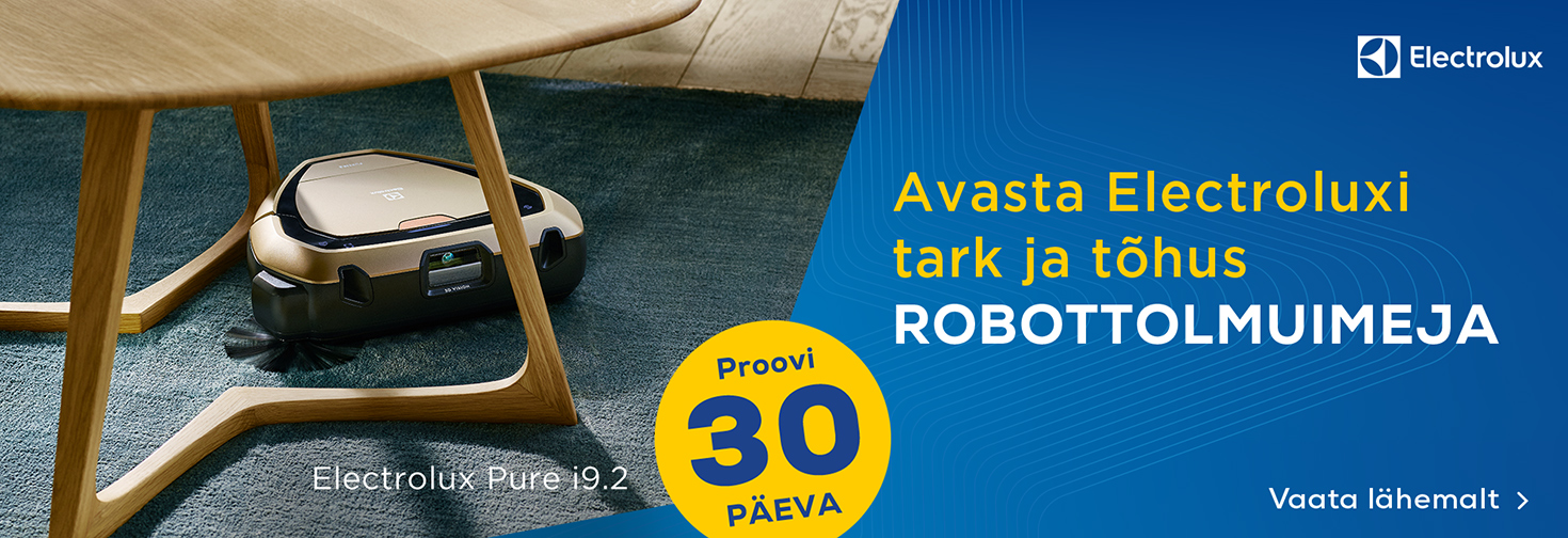 PL Proovi Electroluxi tarka ja tõhusat robottolmuimejat 30 päeva!