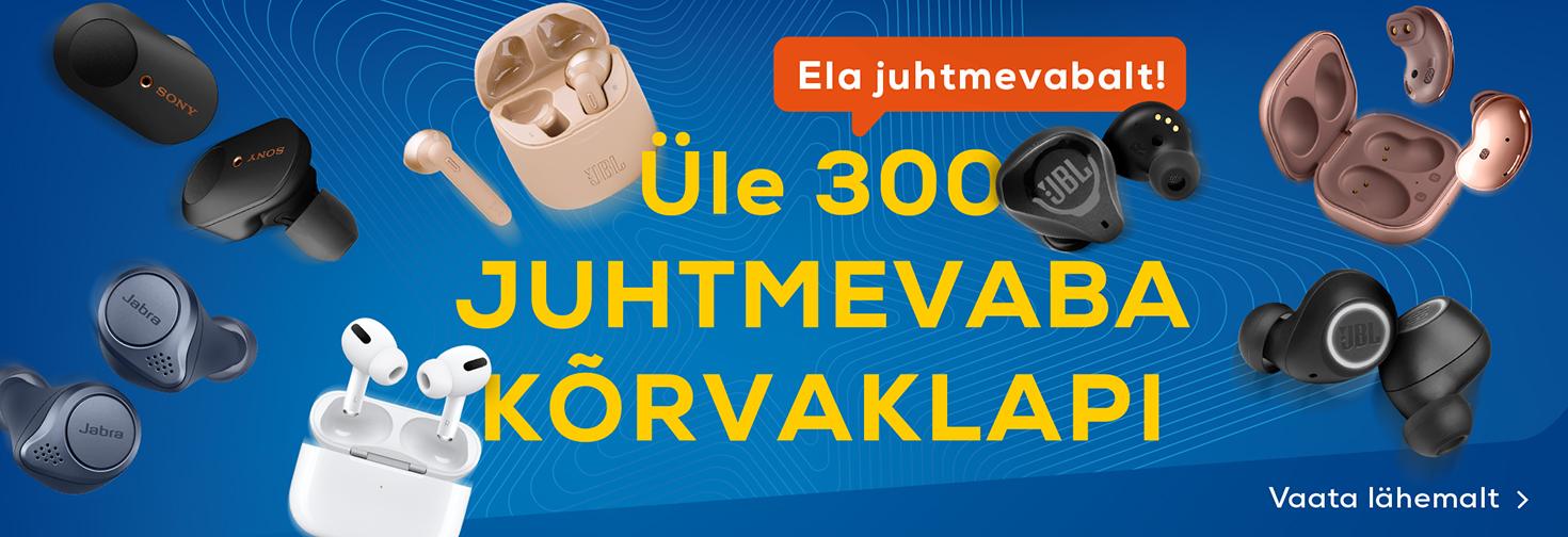MP Üle 300 juhtmevaba kõrvaklapi