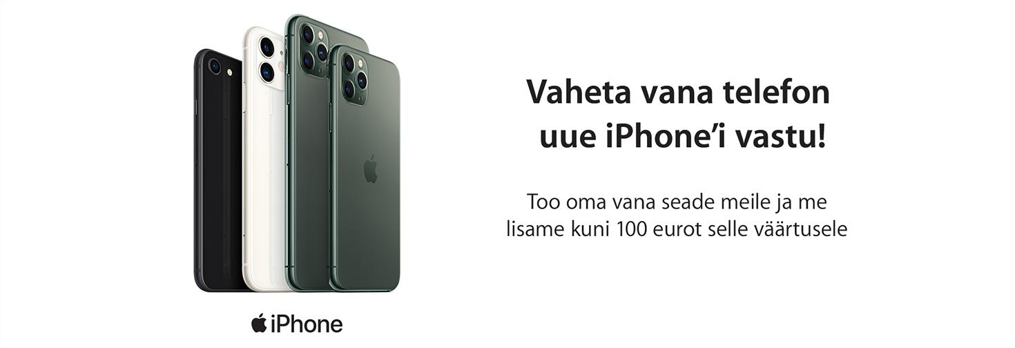 MP Vaheta vana telefon Apple iPhonei vastu