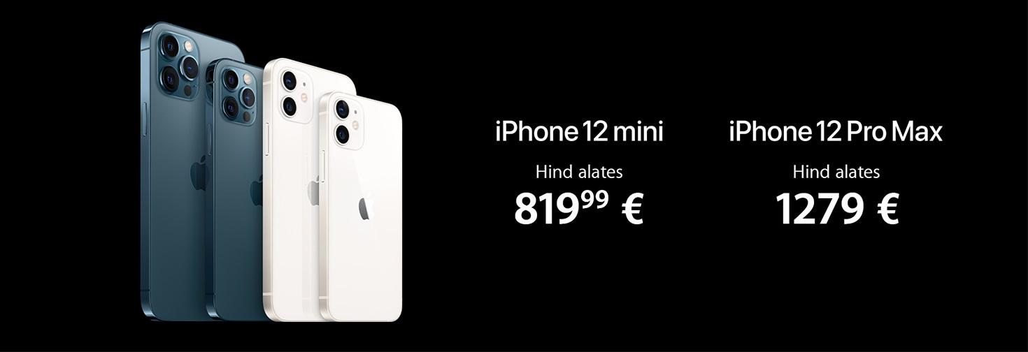 MP Nüüd müügil iPhone 12 mini või iPhone ProMax