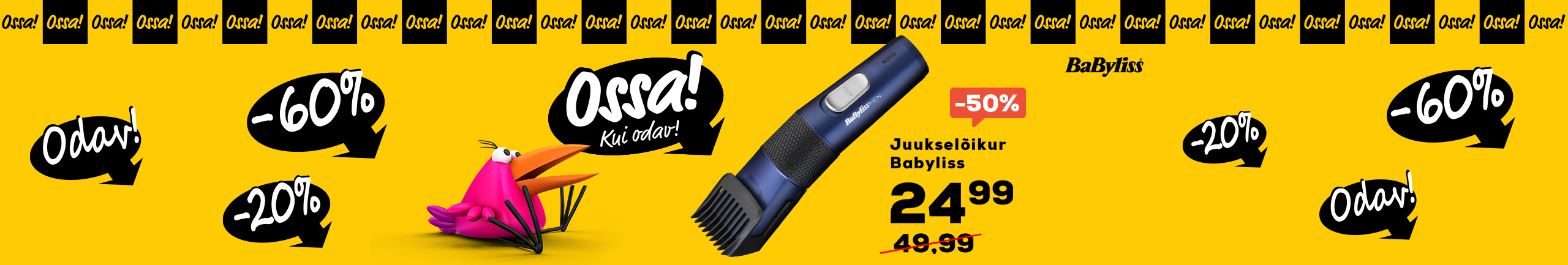 FrontPageSlider    Ossa Hair clipper Babyliss