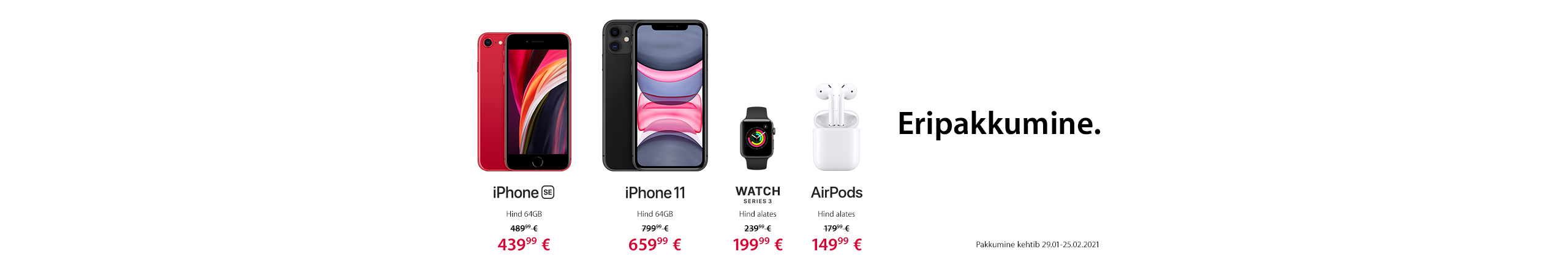 New FrontPageSlider Apple'i eripakkumised