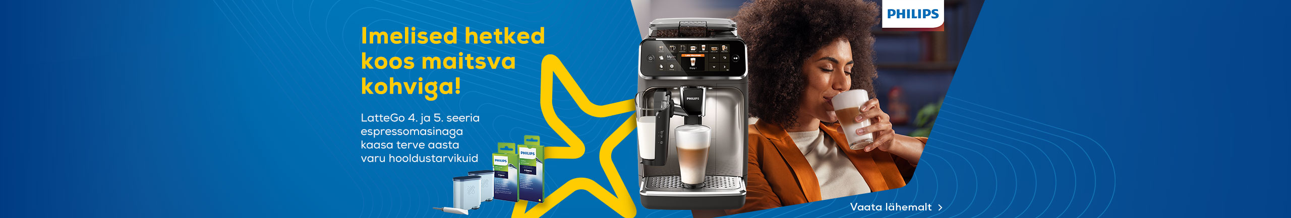 LatteGo espressomasinaga kaasa kingitus
