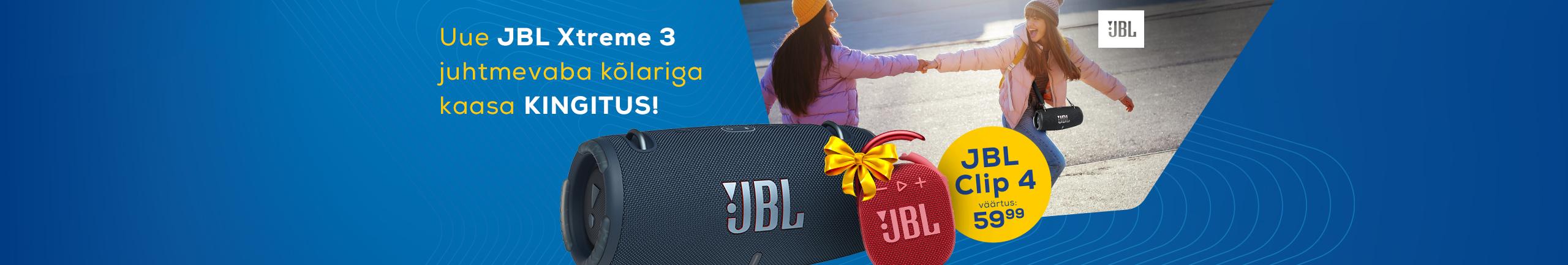 Osta JBL Xtreme 3 kõlar ja saa Clip 4 kingituseks!