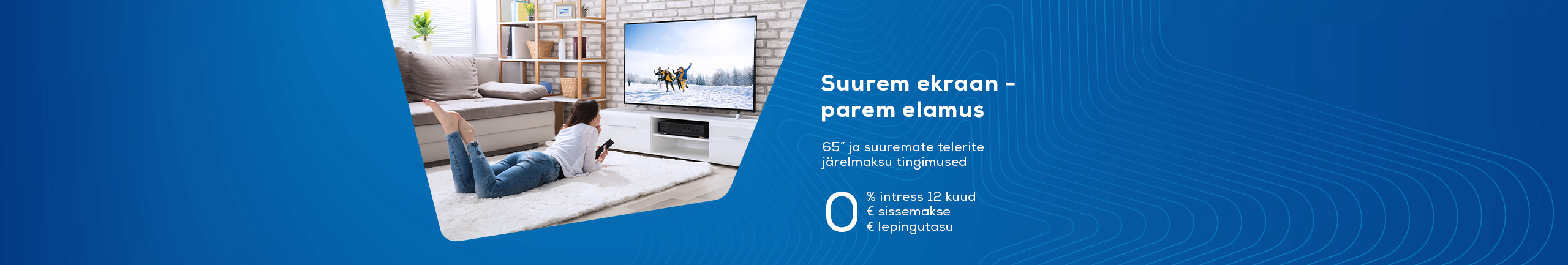 0% hire-purchase interest for 12 months for large TV-s