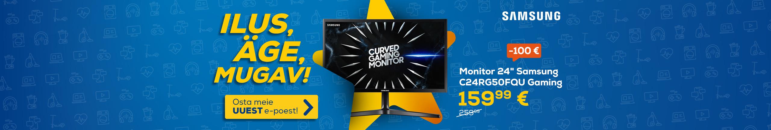 "FrontPageSlider Uuenenud Euronics e-poe eripakkumised Samsung Gamiung monitor 24"""