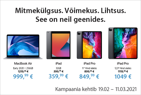 FPMedium Apple iPad 8 ja iPad Pro eripakkumised