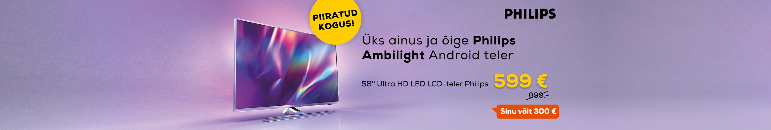 Super price for 58'' Ultra HD LED LCD-TV Philips