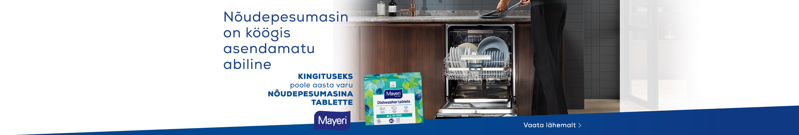 Buy a dishwasher and get 6 months worth of Mayer washing capsules for free