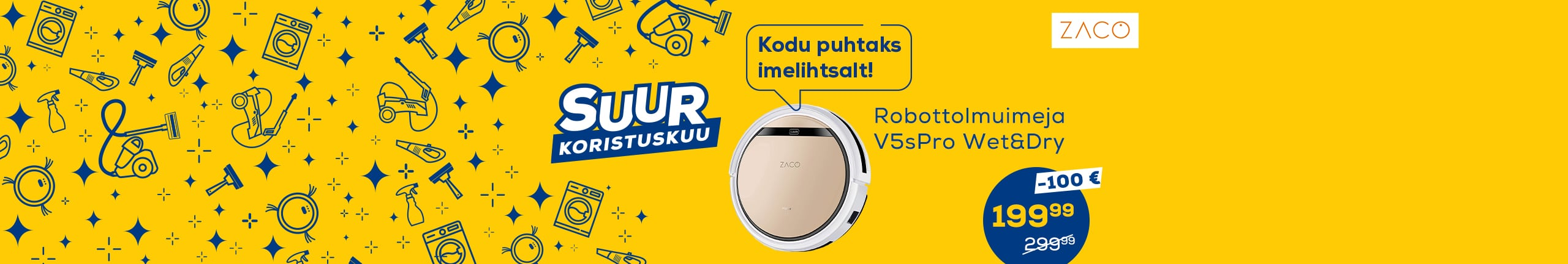 FPS Cleaning month Zaco robot vacuum cleaner