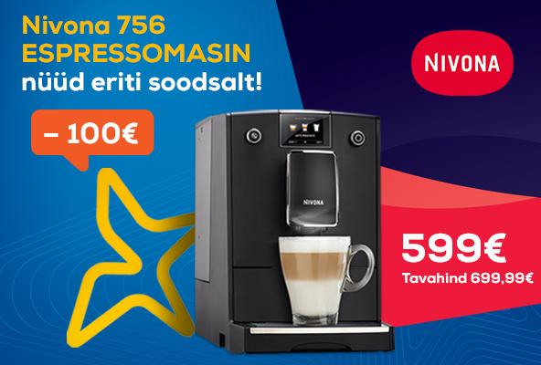 Nivona 756 espressomasin nüüd eriti soodsalt!