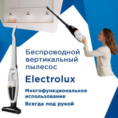 Беспроводной вертикальный пылесос Electrolux