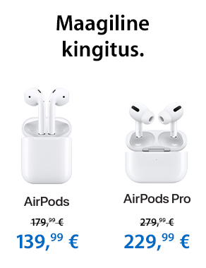 Header Menu Apple AirPods and AiPods Pro