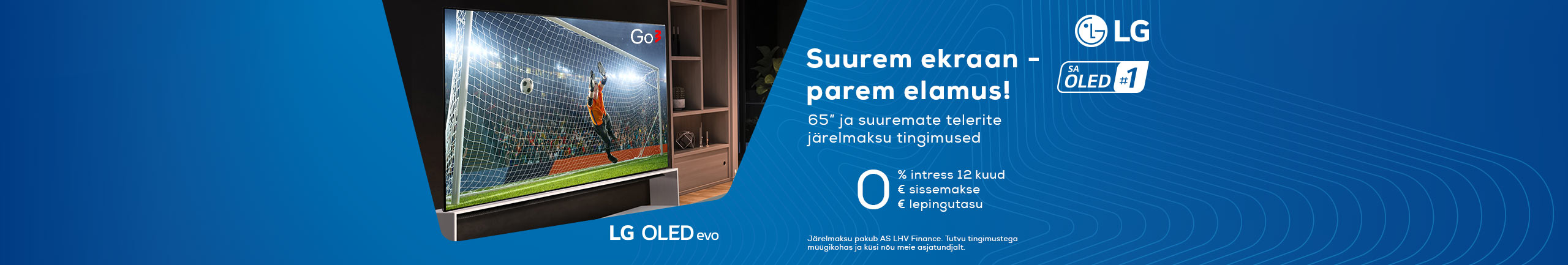 0% hire-purchase interest for 12 months for large LG TV-s