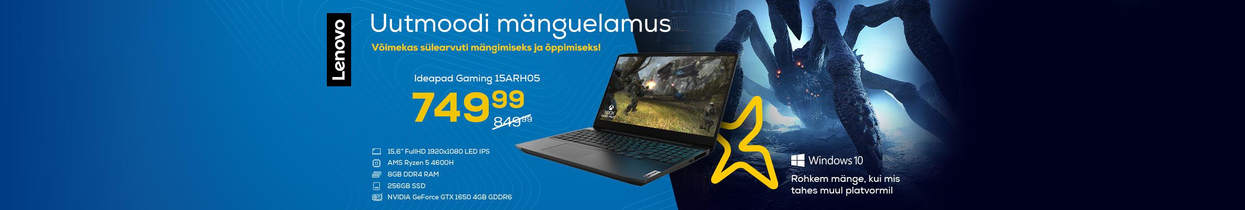 Võimeka protsessoriga Lenovo sülearvuti mängimiseks ja õppimiseks!