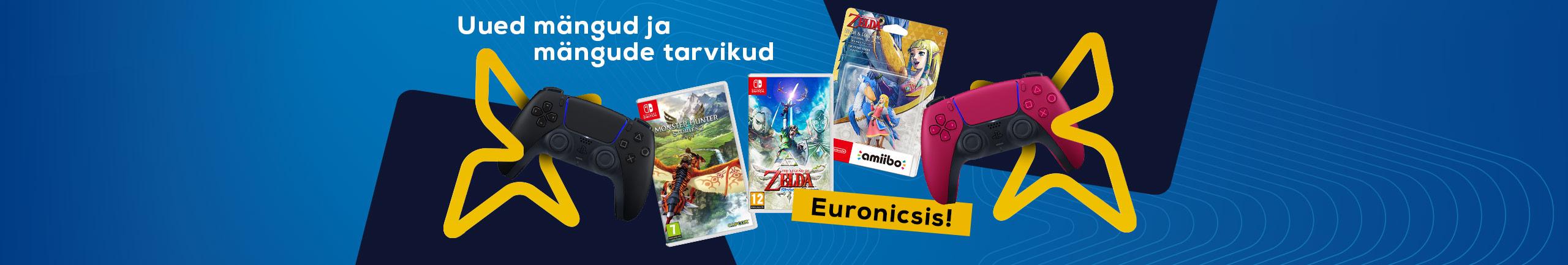 Uued mängud ja mängude tarvikud Euronicsis!