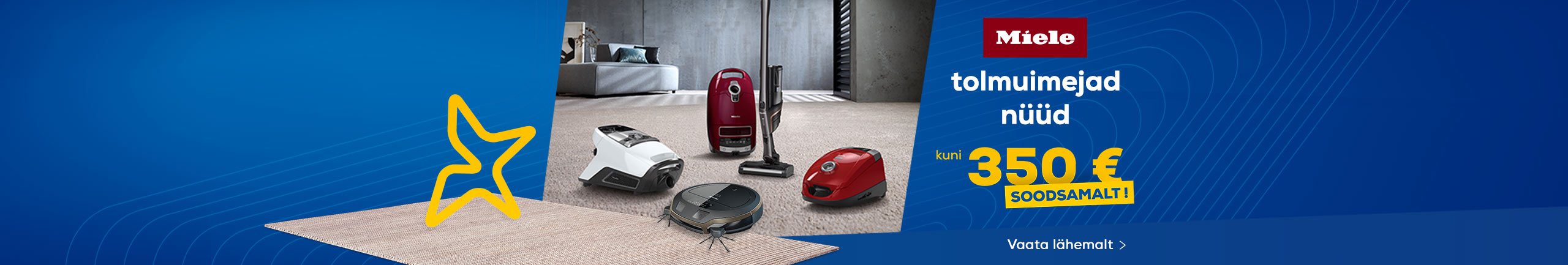 Miele vacuum cleaner discount up to 350 €