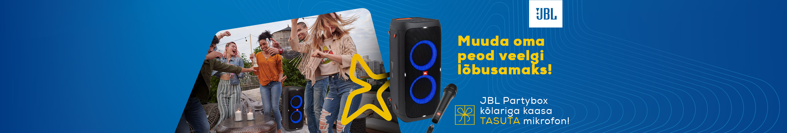 Buy JBL Partybox 310 and get a microphone as a complimentary gift!