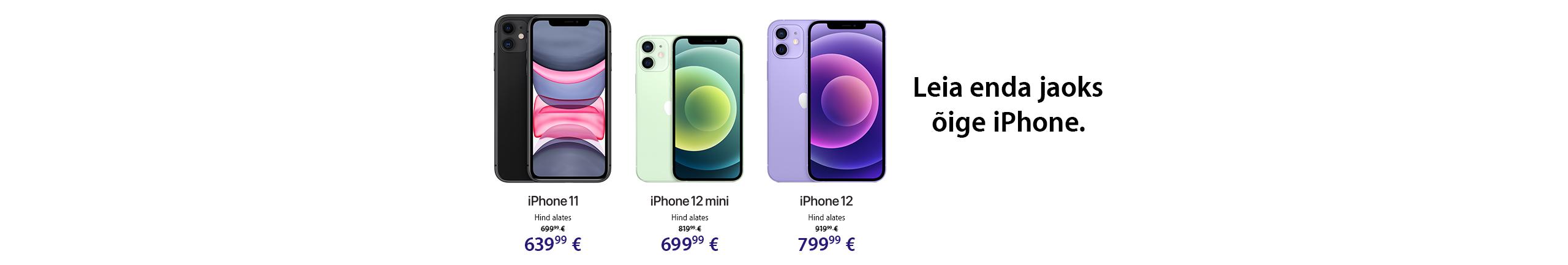 NPL Apple iPhone 11, iPhone 12 ja iPhone 12 mini eripakkumine