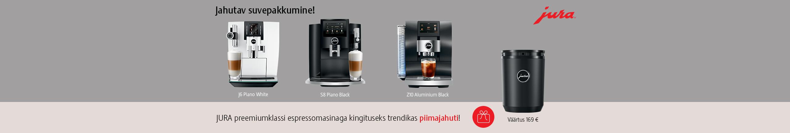 Free Jura milk cooler with premium Jura espresso machines!