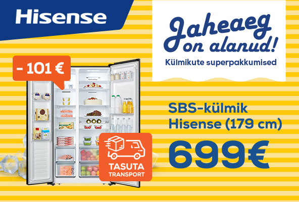 Free delivery for the selected refrigerators! Hisense SBS