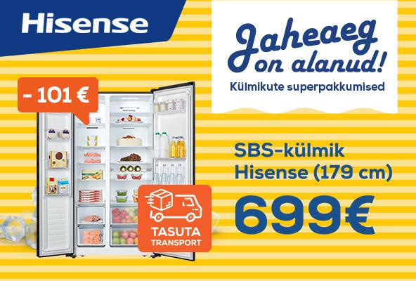 Toome valitud külmiku tasuta koju! Hisense SBS
