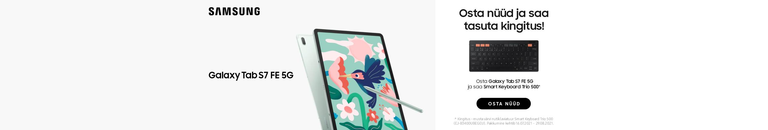 Samsung Galaxy Tab S7FE-ga kingituseks Samsung Smart Trio 500 klaviatuur