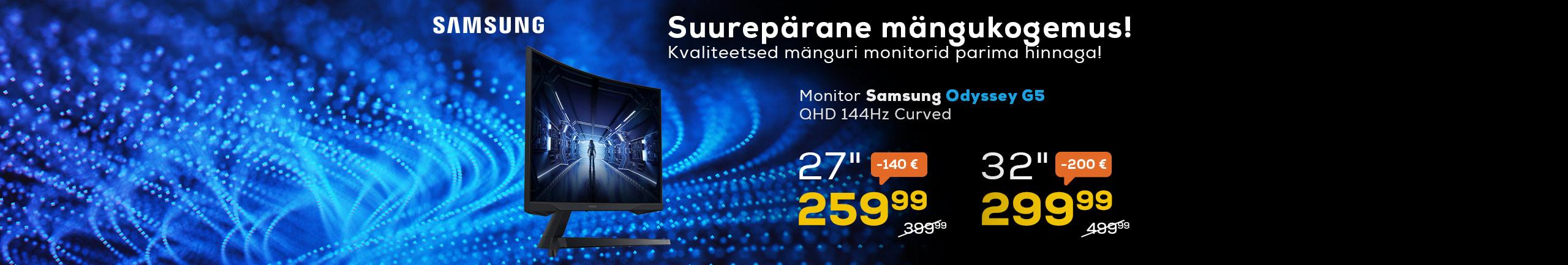 Nõgusa ekraaniga Samsung Odyssey G5 monitor