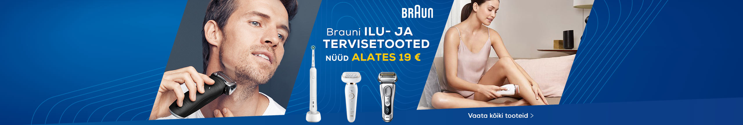 Braun beauty and health products starting from 19 €
