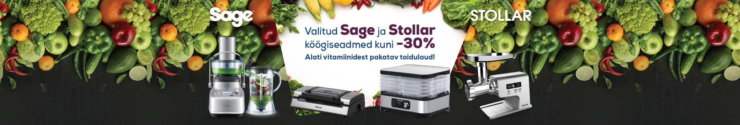 Selected Sage and Stollar kitchen appliances up to -30%