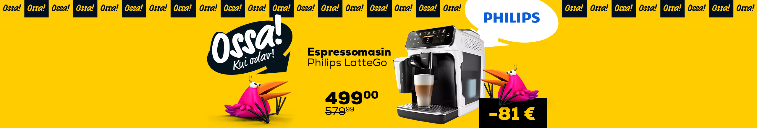NPL Ossa! Summer 2021 Espresso machine Philips LatteGo