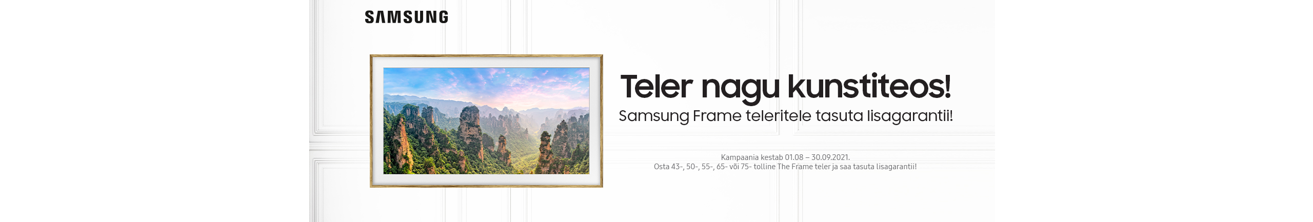 Free extended warranty with selected Samsung Frame TVs