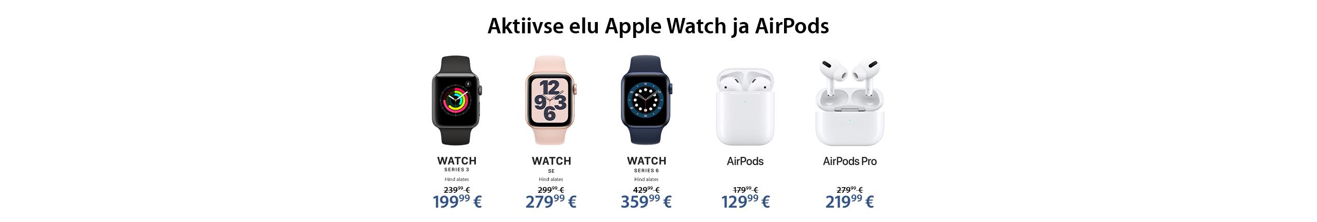NPL Aktiivse elu Apple Watch ja AirPods