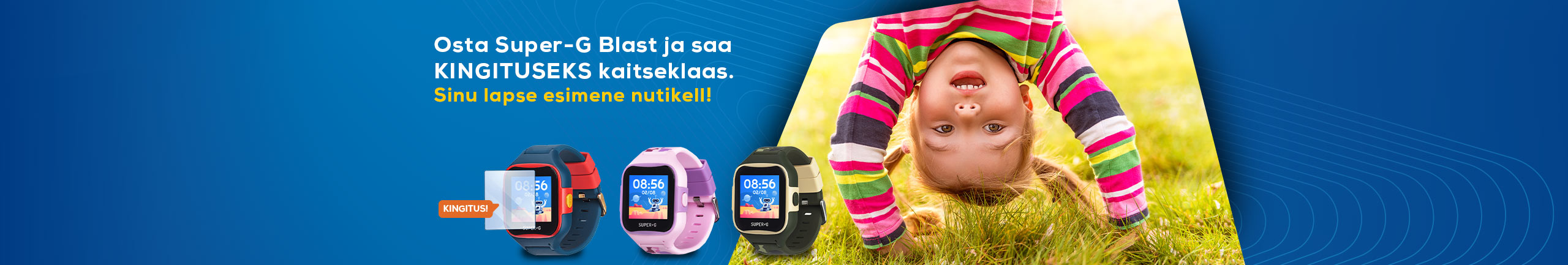 Buy a Super-G Blast smartwatch and get a complimentary screen protector!