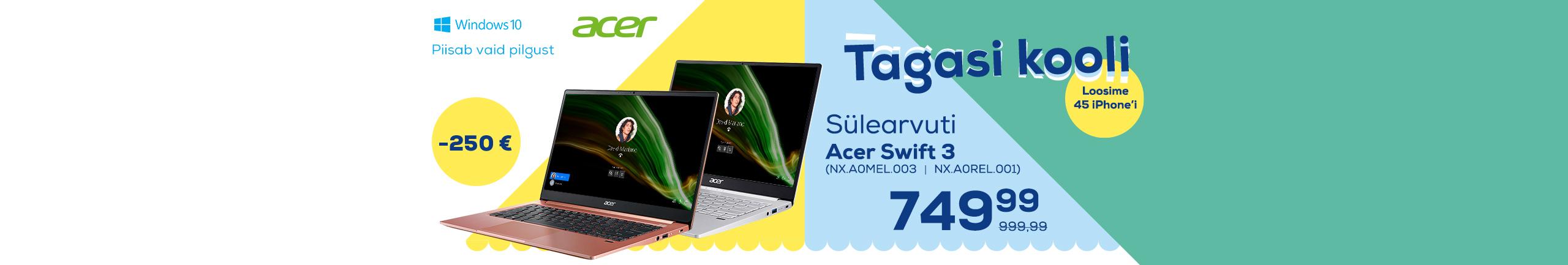 NPL Osta arvuti ja võida iPhone 12 mini, Acer Swift 3