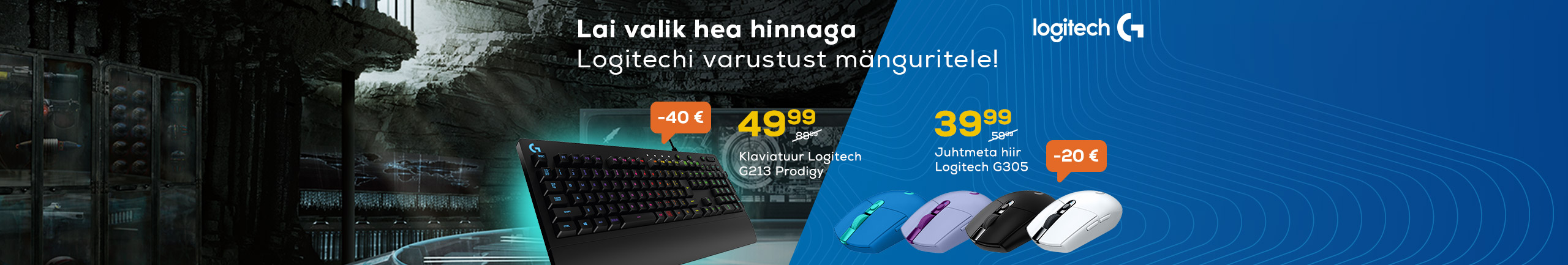 Wide selection of Logitech gaming accessories!