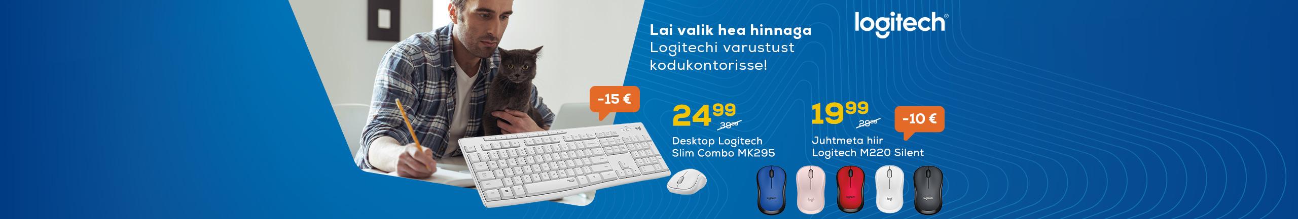Lai valik hea hinnaga Logitechi varustust kodukontorisse!
